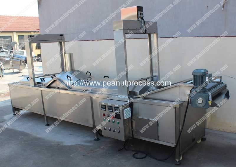 Full Auotmatic Peanut Frying Machine for Sale