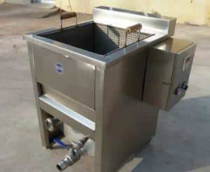 Manual Discharge Single Container Peanut Frying Machine
