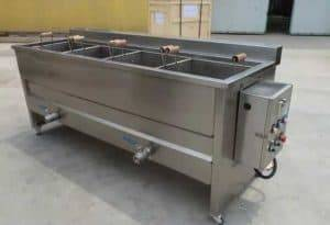 Manual Discharge Type Peanut Frying Machine with Three Container