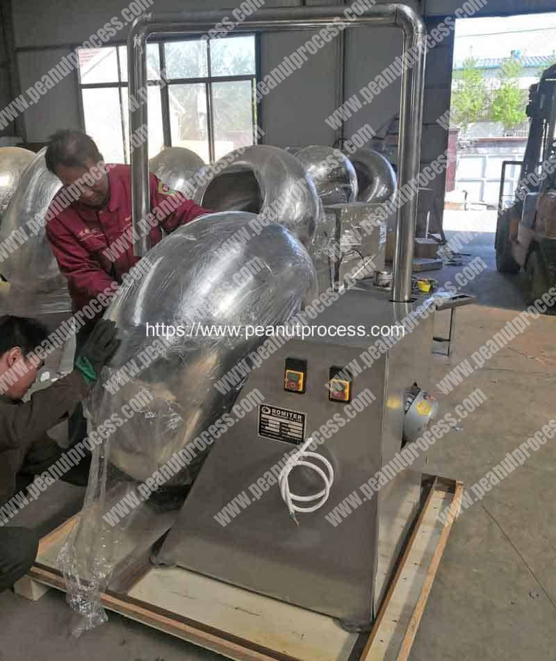Automatic-Peanut-Flour-Coating-Machine-with-Hot-Air-Function