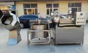 Semi-Automatic-Peanut-Frying-Machine-and-Seasoning-Machine