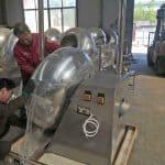 Automatic Peanut Flour Coating Machine for Ivory Coast Customer